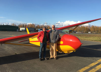 Dov and Pete with Lee's SGS-233 at Birchwood