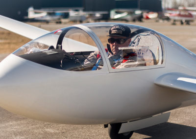 Jeff's Russia Motor Glider,  Snug in the Cockpit, Photo by: Dov Margalit