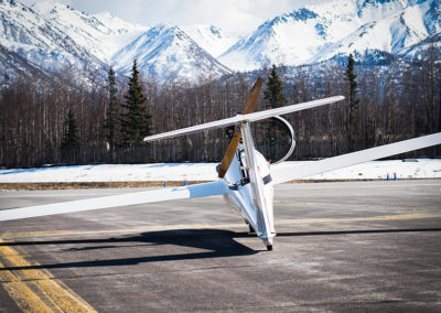 Jeff's Russia Motor Glider, Ready for Takefoff, Photo by: Dov Margalit