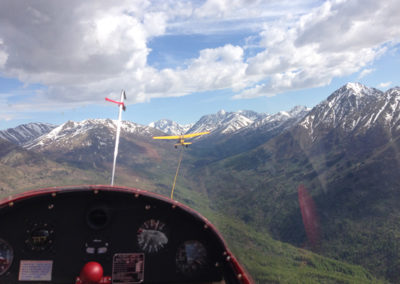 The SGS-233 on Tow over the Chugach Mountains