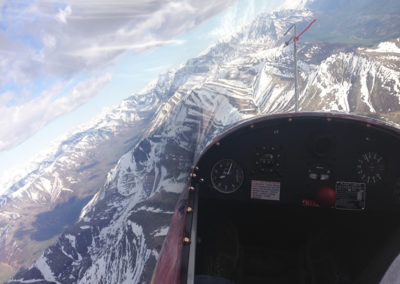 Thermalling over the Chugach in the SGS-233