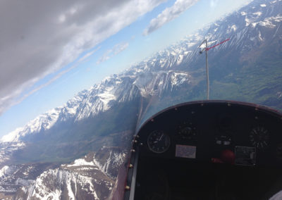 Thermalling over the Chugach, Eagle River Valley  in the SGS-233